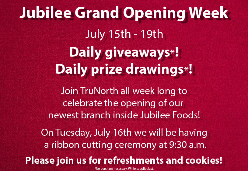 picture of jubilee grand opening week